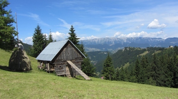 Photo of mountain hut in Transylvania