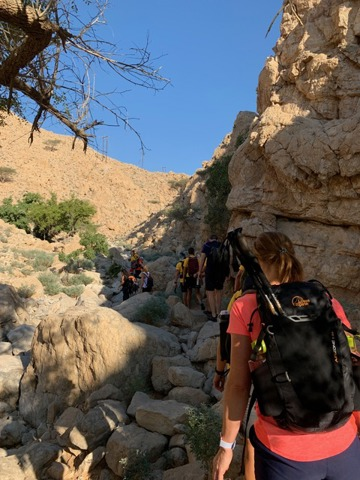 Photo of trekking team in Musandam Oman